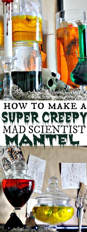 HALLOWEEN MAD SCIENTIST MANTEL