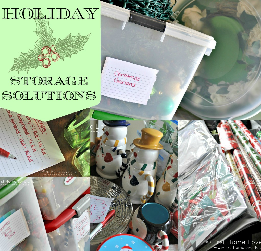 First Home Decorating: Holiday Decoration Storage Ideas