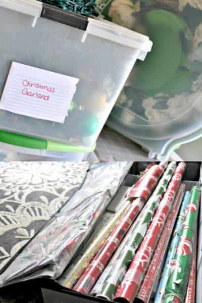 Christmas decoration storage ideas via firsthomelovelife.com
