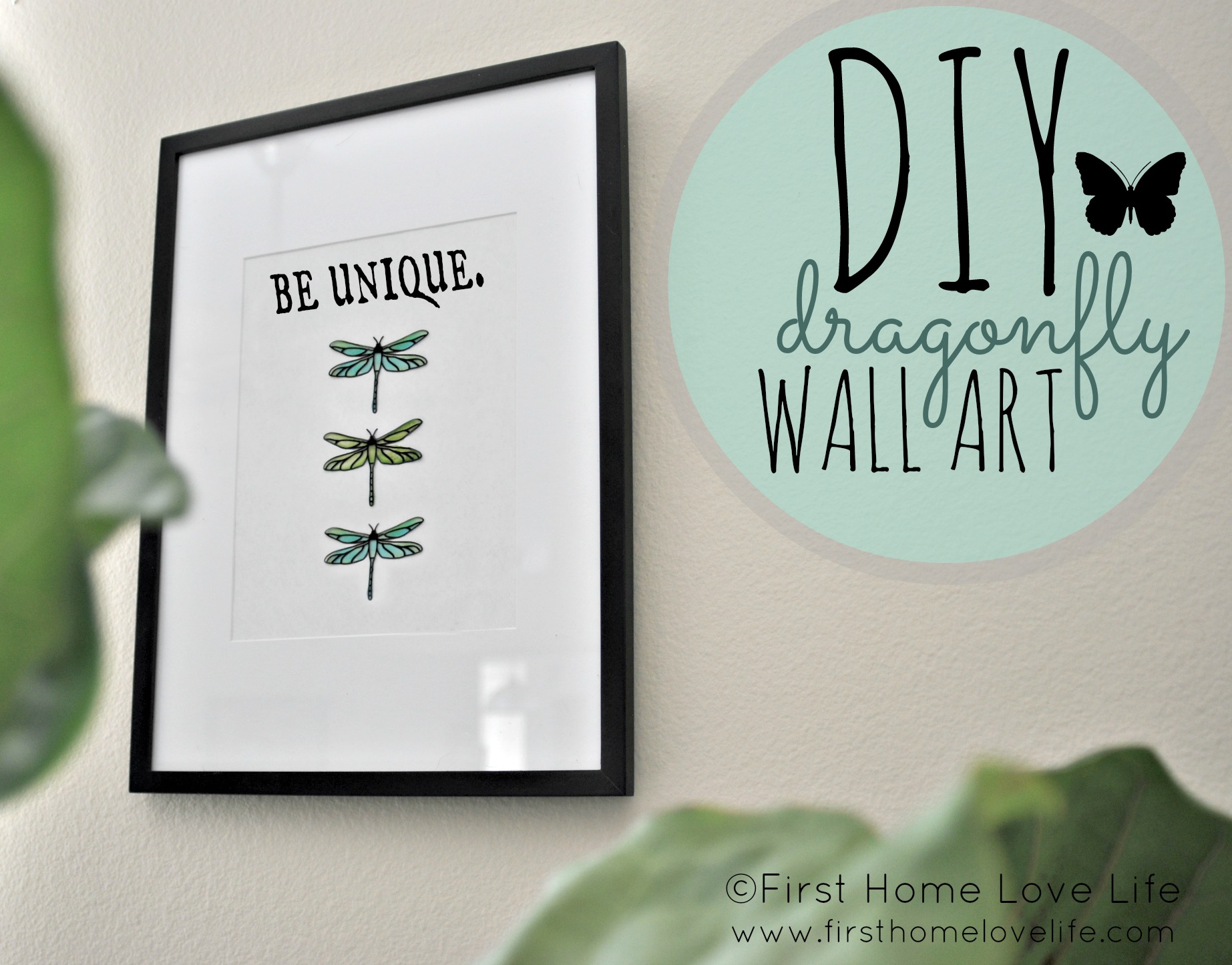 Diy Dragonfly Wall Art First Home Love Life