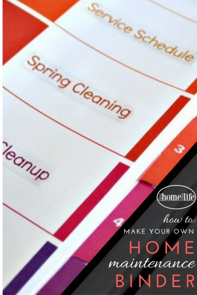 how to make your own organized home maintenance binder to keep track of household services, important appointments and cleaning schedules via firsthomelovelife.com