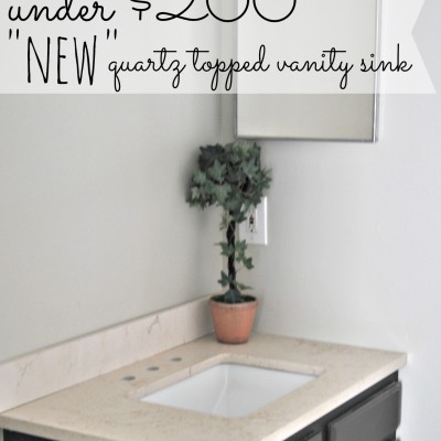 Bathroom Vanity with Quartz Counter