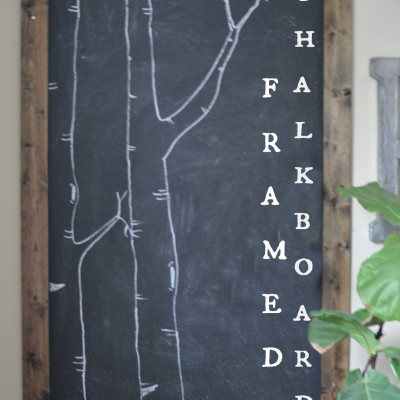 How to Make Your Own Chalkboard Framed Art
