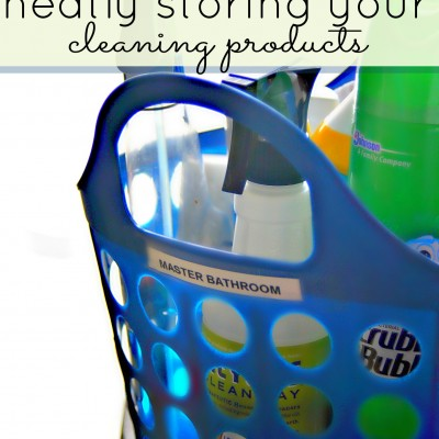 Organized Cleaning Products
