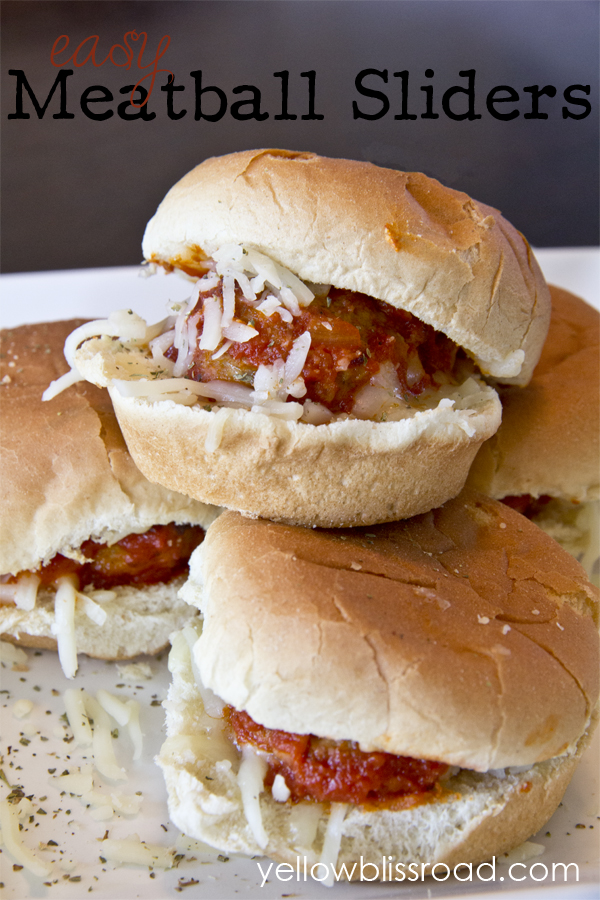 Easy Meatball Sliders title