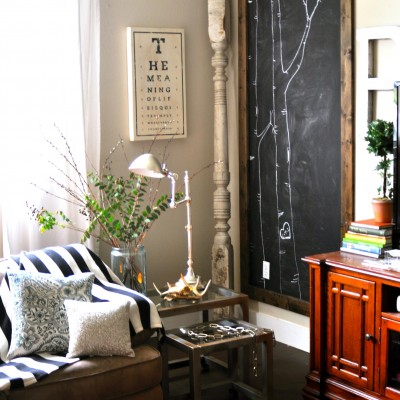 """Two Toned """"Metal"""" Table Makeover"""