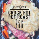the best crock pot pot roast recipe via firsthomelovelife.com