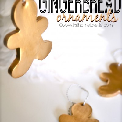 Gold Gingerbread Ornaments