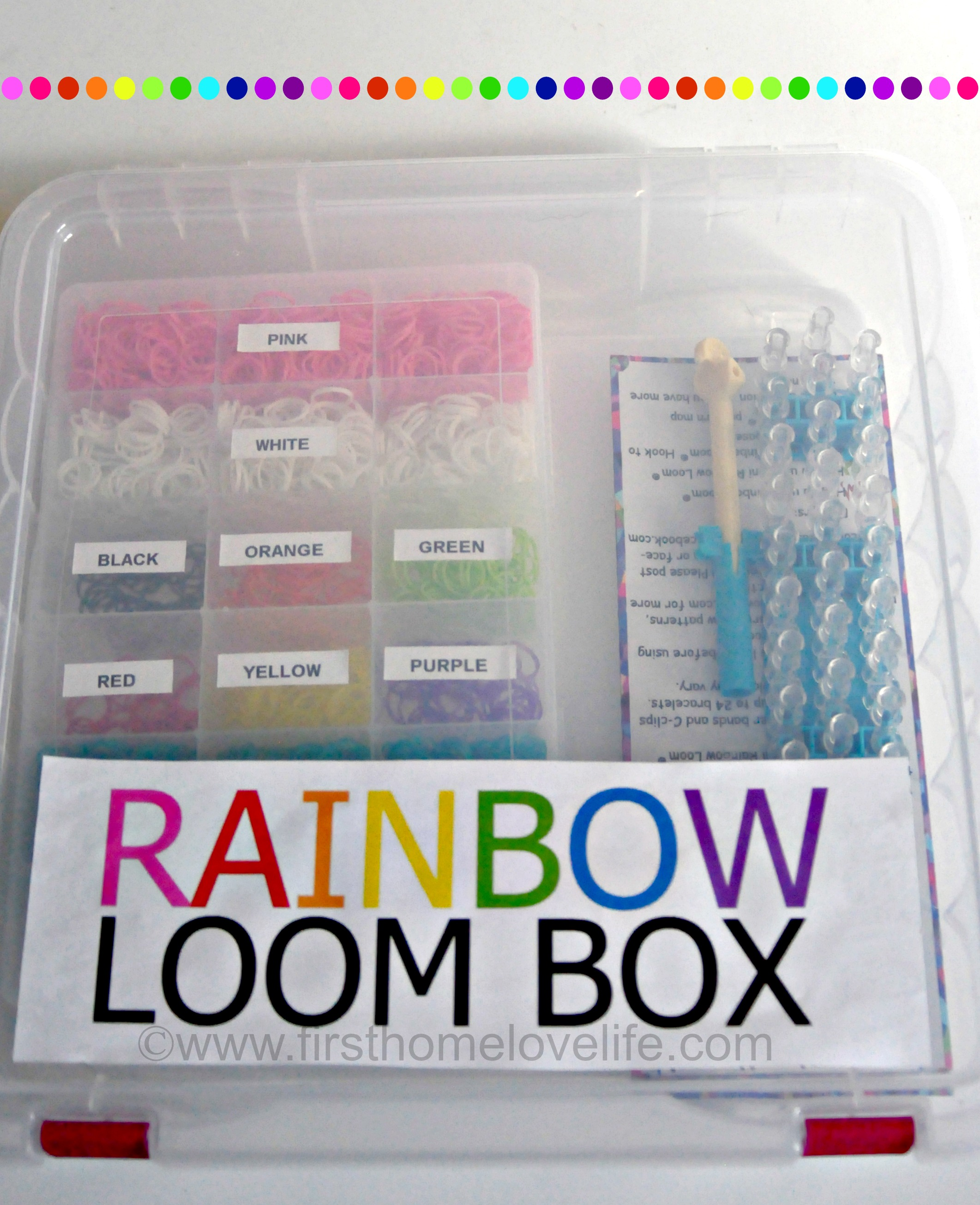 Rainbow Loom Storage Box First Home Love Life