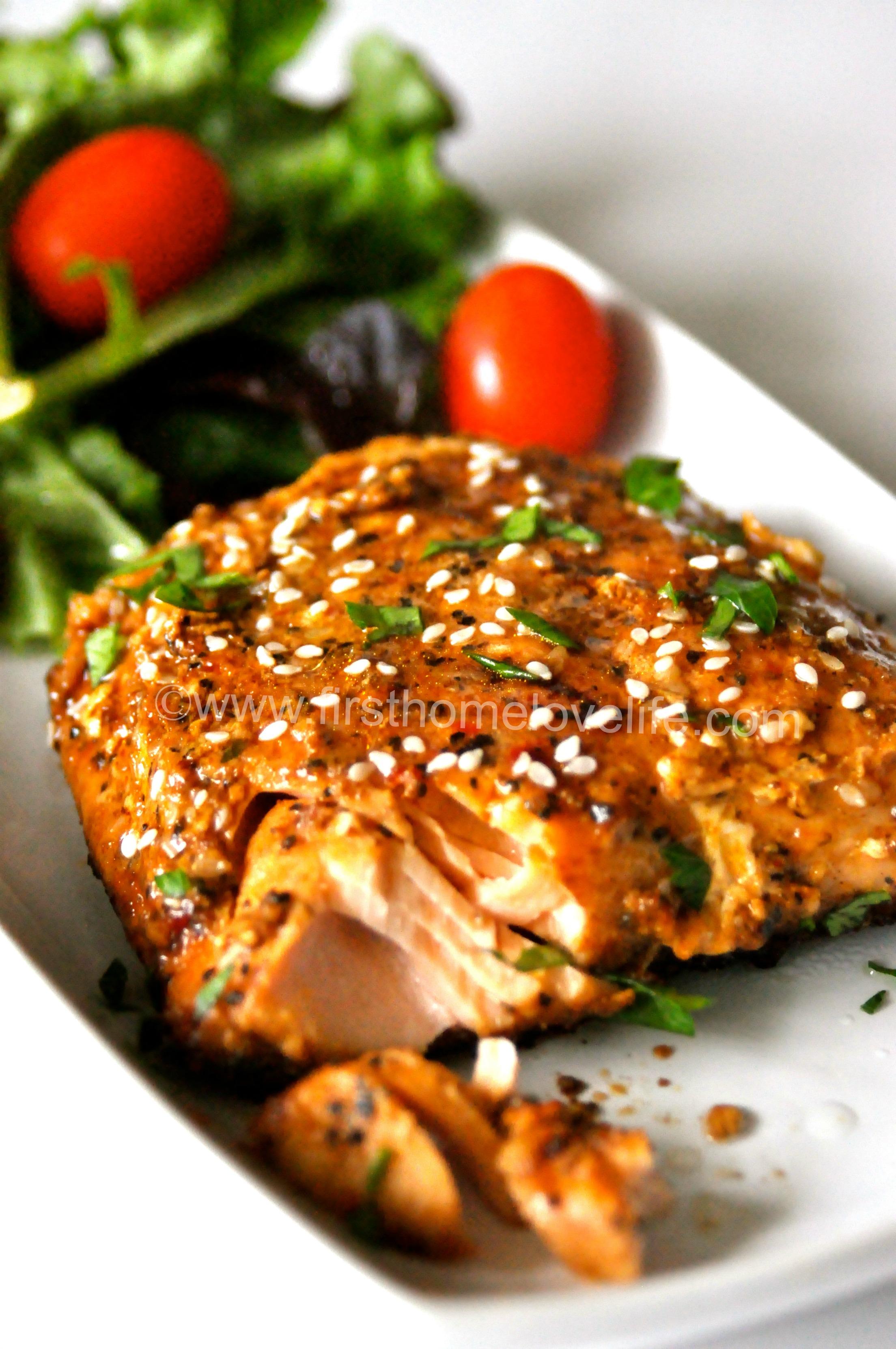 Macaroni Grill Inspired Teriyaki Salmon First Home Love Life