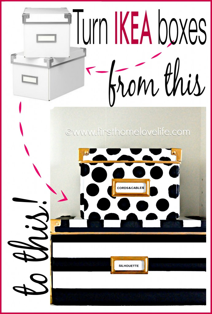 Kate Spade inspired storage boxes to hide away all of those loose office items! #DIY #craft #office