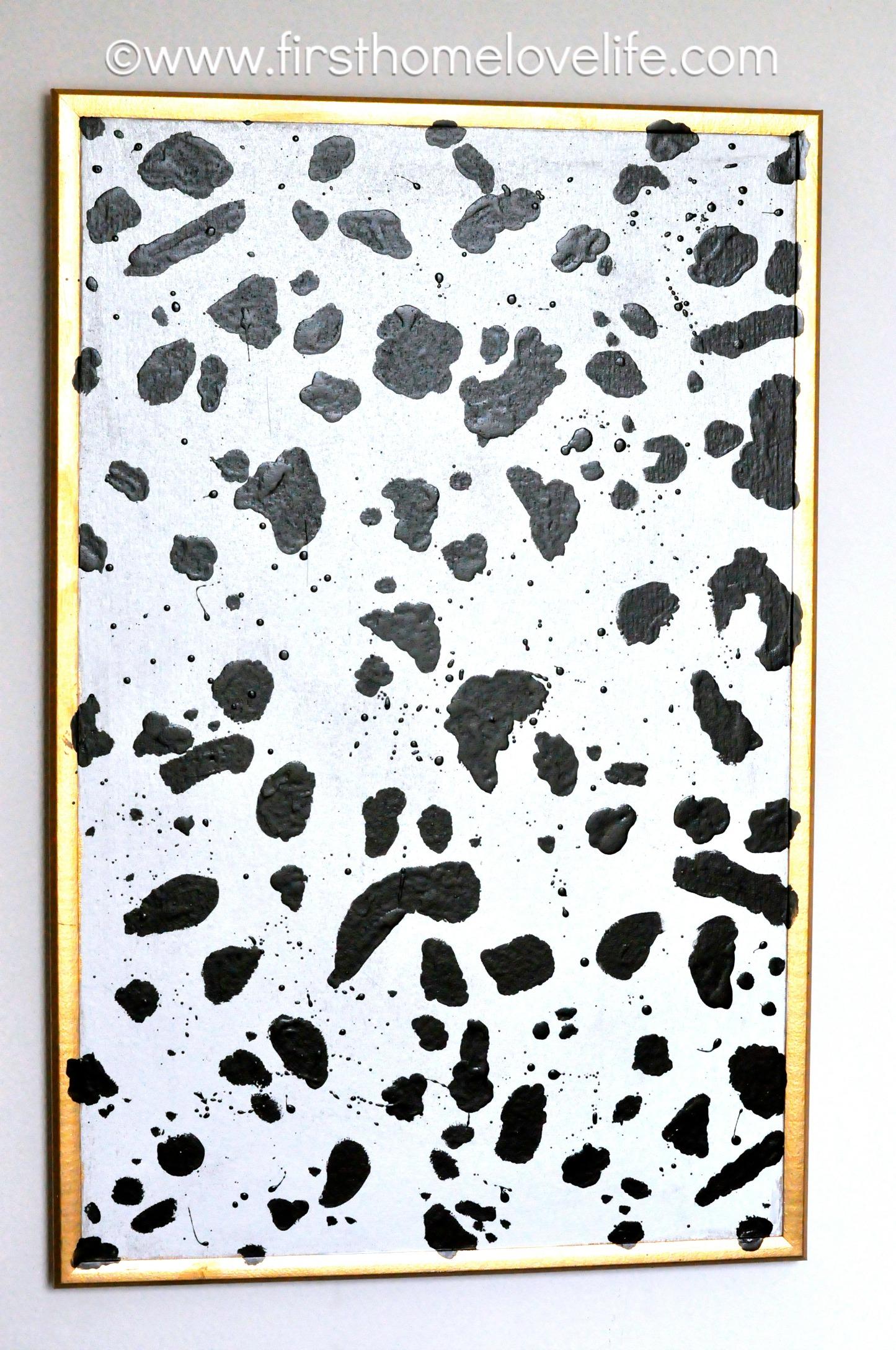 Dalmatian Print Bulletin Board First Home Love Life