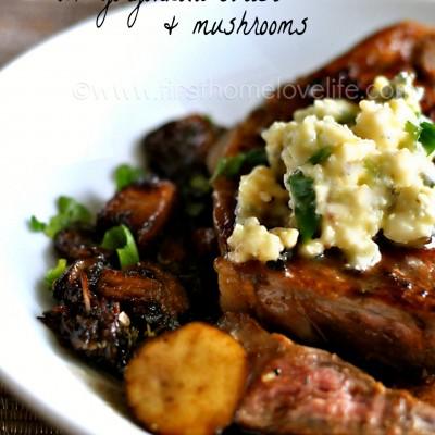 Savory Steak with Gorgonzola Butter
