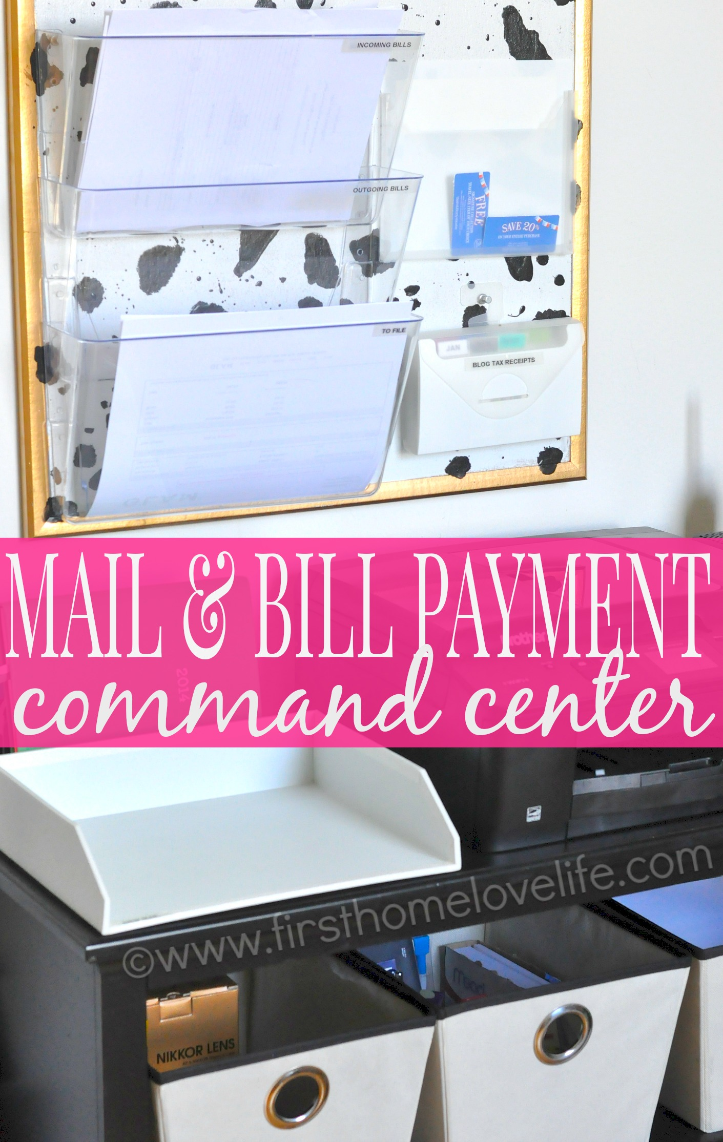 Learn How To Set Up A Mail And Bill Payment Center In Your Home Keep