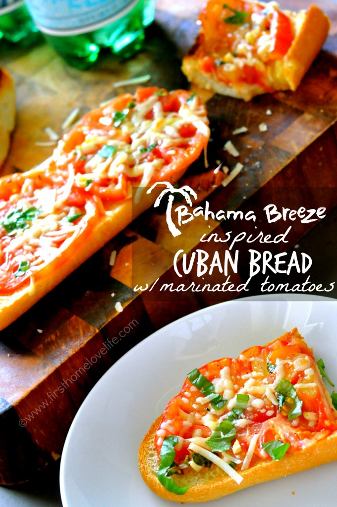 This Bahama Breeze inspired cuban bread with tomatoes recipe tastes just like the restaurants version! You'll be making it over and over again at home!