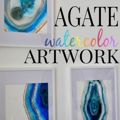 DIY Agate Watercolor Artwork