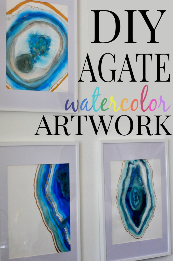 Can't find art you love to buy for your home? Create your own and hang it proudly! This DIY Agate Watercolor Artwork is one of a kind and pretty easy to do!