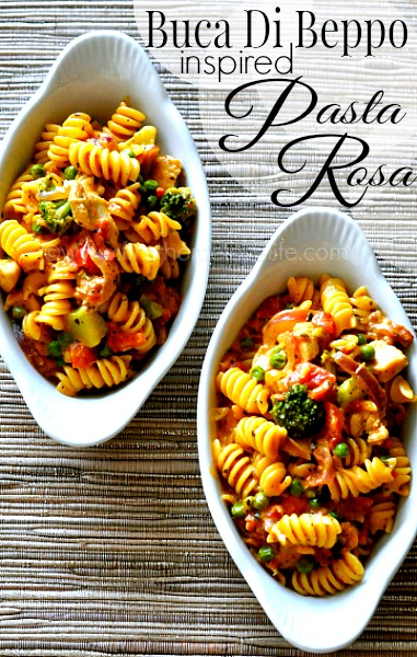 This easy and delicious ONE POT PASTA ROSA is absolutely divine! Jam packed with chicken, sausage and veggies in a cheesy tomato sauce-it's sure to be a hit