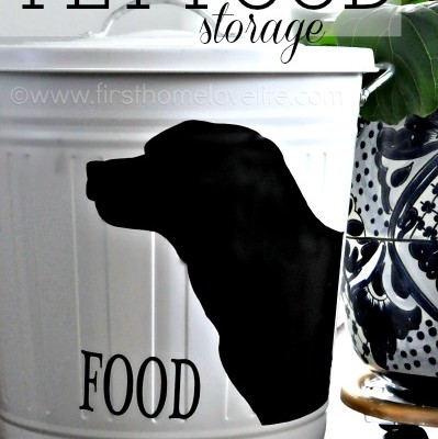 Personalized Pet Food Storage