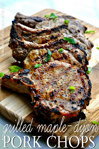 maple dijon pork chops
