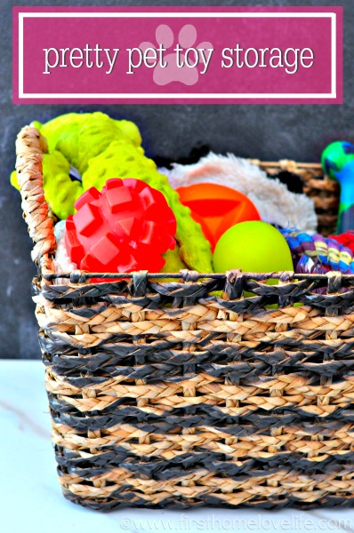 pet toy strorage basket