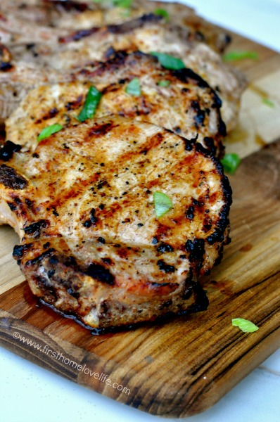 Sweet and savory pork chops oozing with juicy flavor! These grilled maple Dijon Pork Chops are going to be your new grilling favorite!