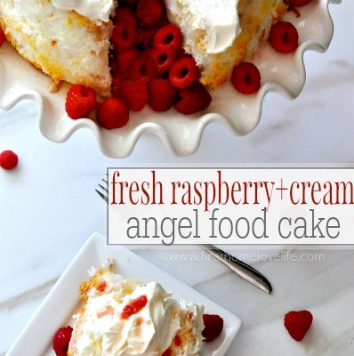 Fresh Raspberry & Cream Cake