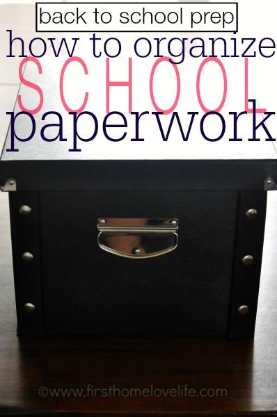 how to organize school paperwork