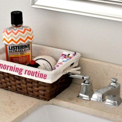 Kids Morning Routine Basket