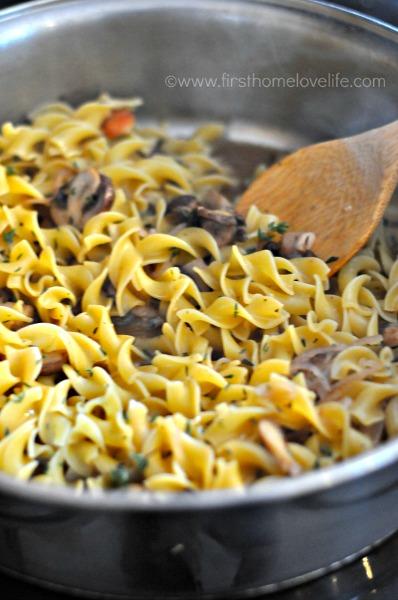 noodles cooking