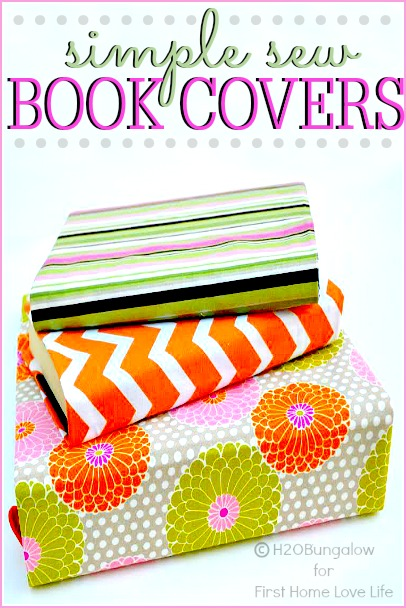 Book Cover Craft Books : Diy fabric book covers first home love life