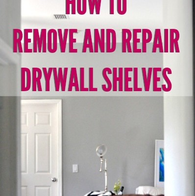 How to: Remove and Repair Drywall Built Ins