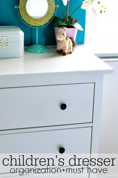 children's dresser organization must have via www.firsthomelovelife.com