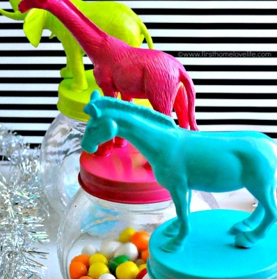 Make Your Own Dollar Tree Animal Trinket Jars