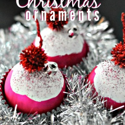 DIY Cupcake Christmas Ornaments