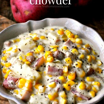 Smokey Ham, Potato, and Corn Chowder