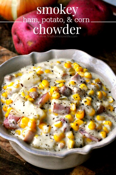 ham potato and corn chowder recipe