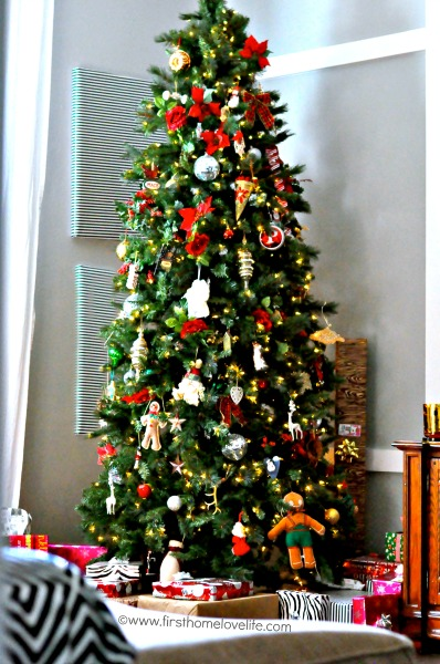 family christmas tree  First Home Love Life