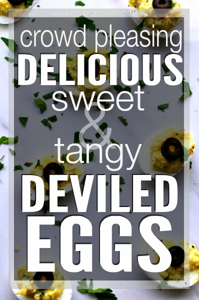 sweet and tangy deviled eggs made with relish