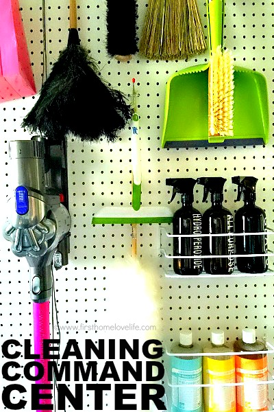 CLEANING COMMAND CENTER VIA WWW.FIRSTHOMELOVELIFE.COM
