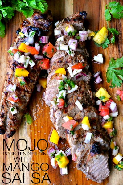 MOJO PORK TENDERLOIN WITH MANGO SALSA