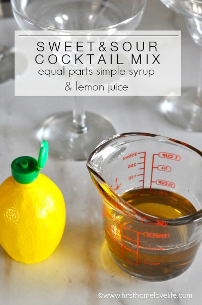 DIY SWEET AND SOUR MIX FOR COCKTAILS