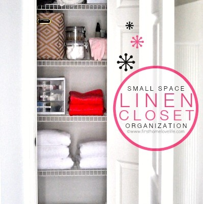 Small Space: Linen Closet Organization