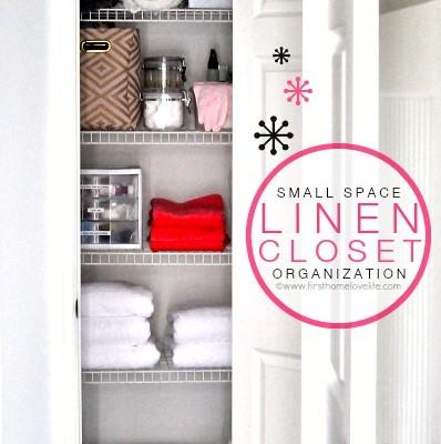 Small Space: Linen Closet Organization