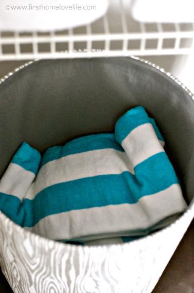 pool towels linen closet