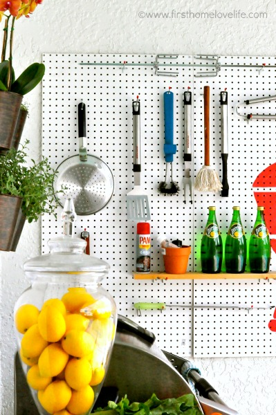 GRILLING STATION USING PEGBOARD