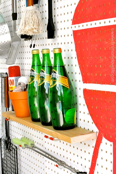 diy pegboard shelf