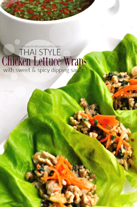 Chicken Lettuce Wraps via www.firsthomelovelife.com