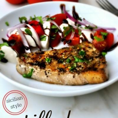 Sicilian Style Grilled Swordfish