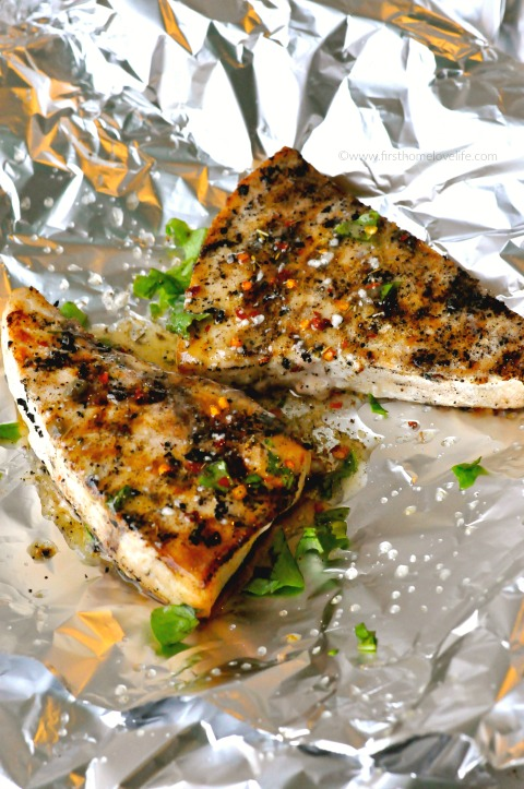 yummy grilled swordfish recipe via www.firsthomelovelife.com